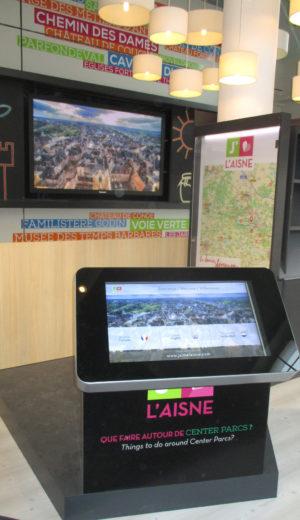 Affichage dynamique et borne interactive dans l'Aisne