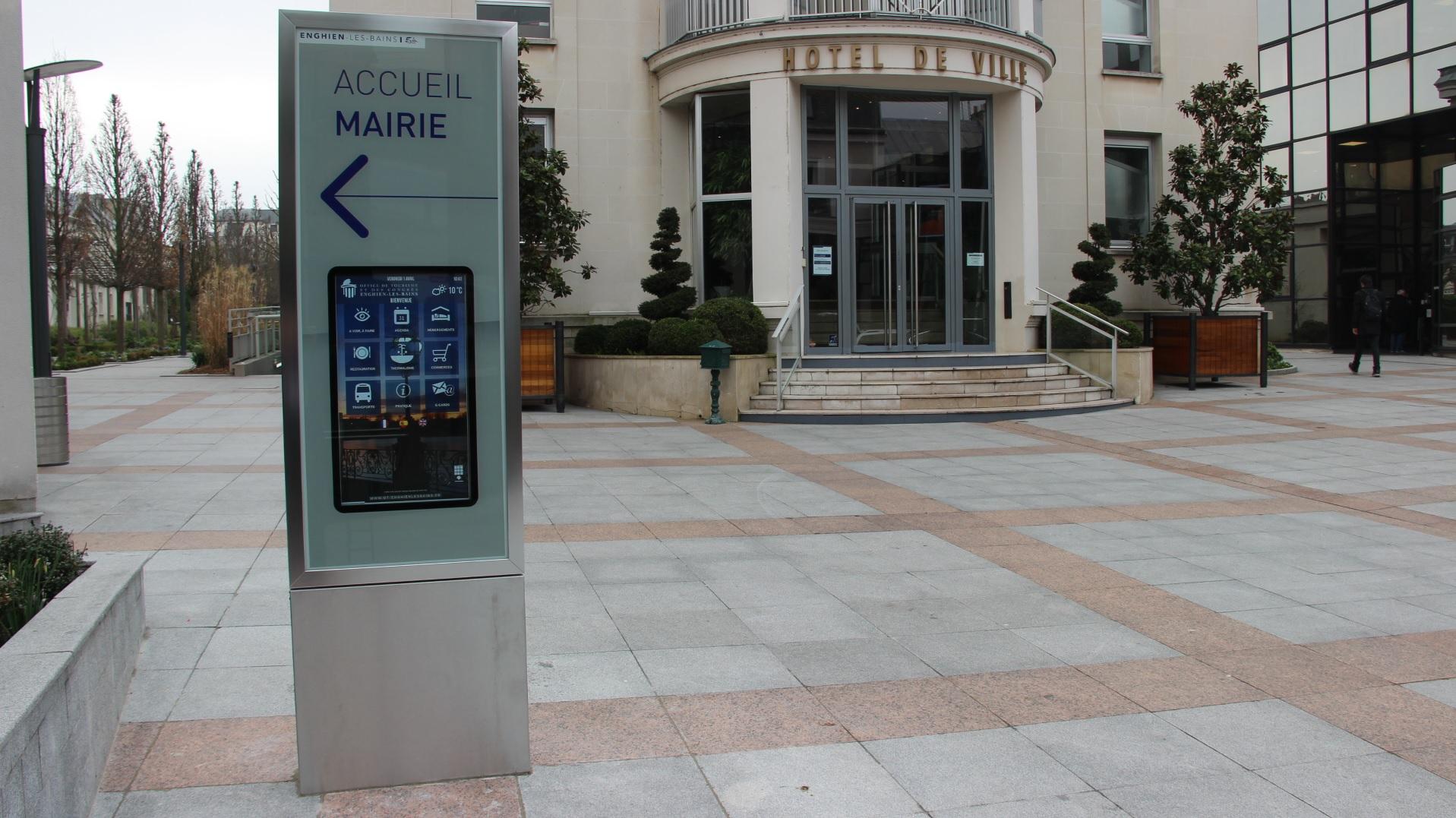 Borne interactive mairie Enghien