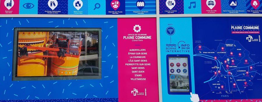 Affichage dynamique et borne interactive à Saint Denis