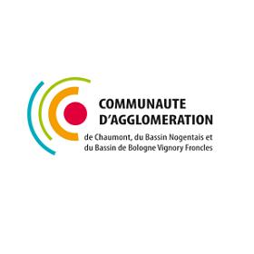 Logo Communauté d'agglomération de Chaumont, du Bassin Nogentais et du Bassin de Bologne Vignory Froncles
