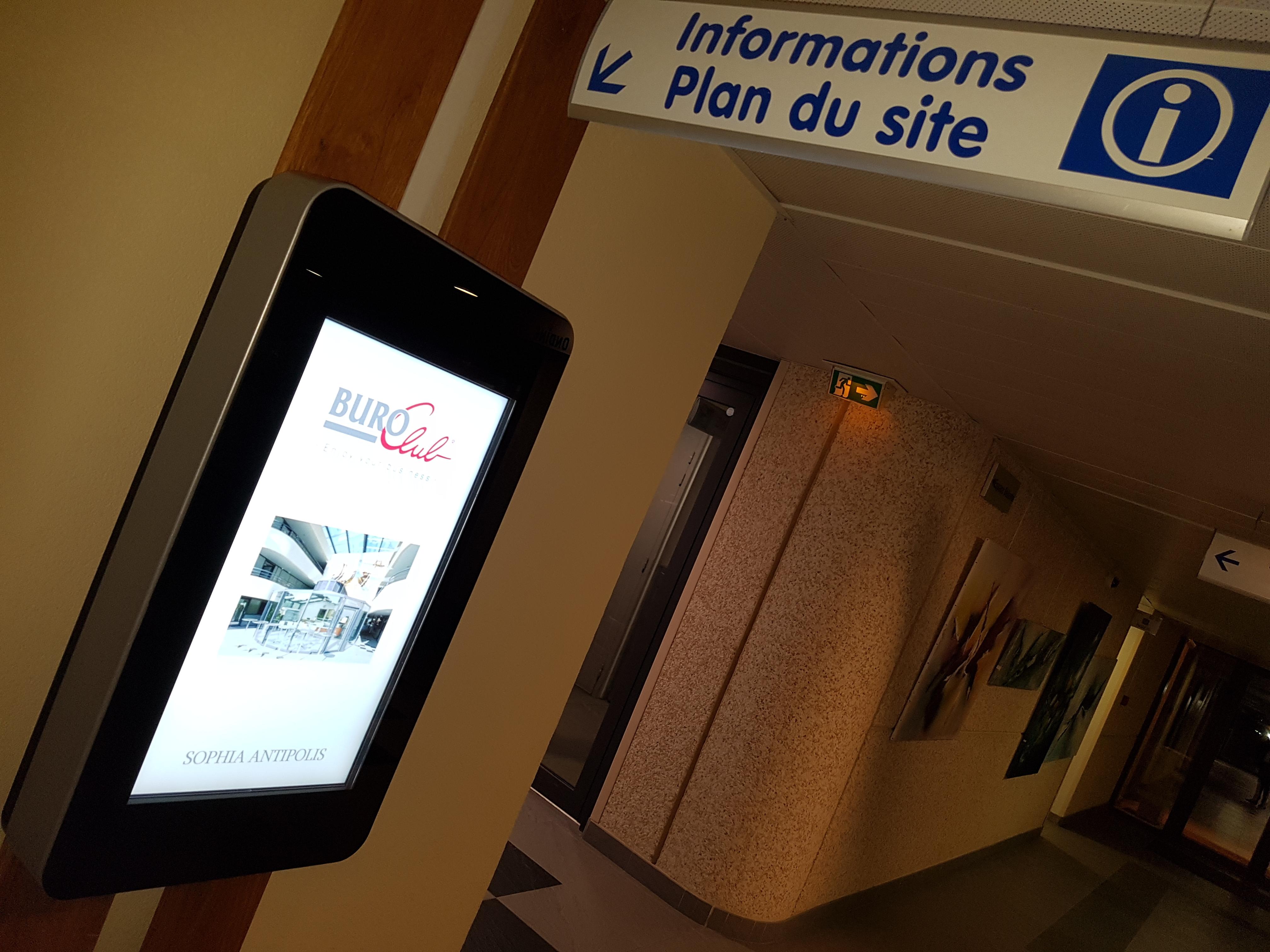 Bornes digitales d'accueil