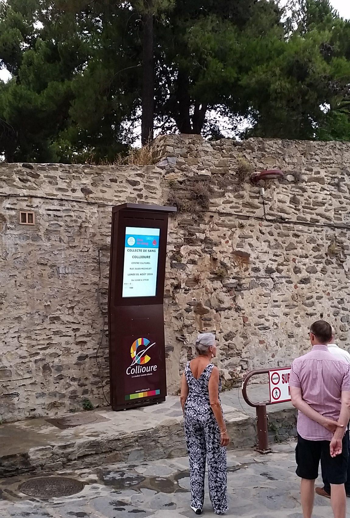Ecran d'affichage dynamique Faubourg, Collioure