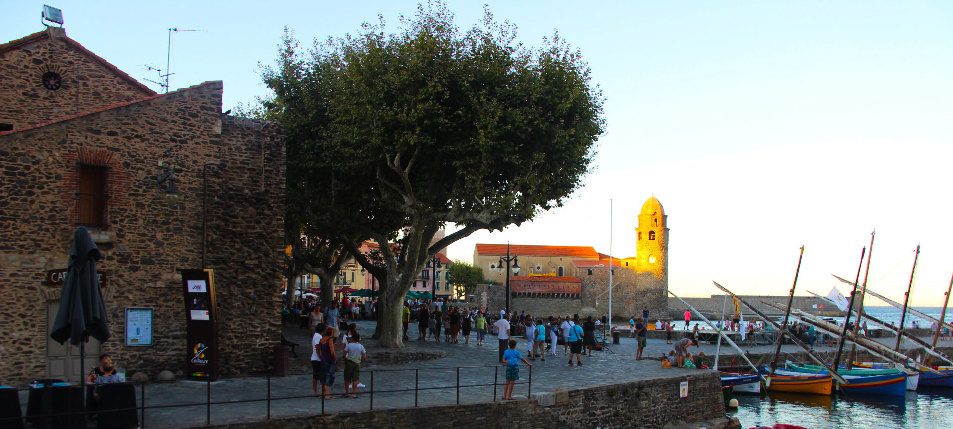 Totem interactif sur le Port de Collioure