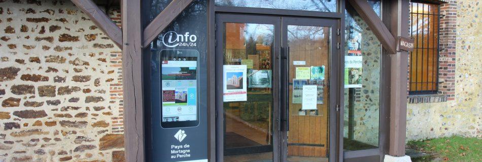 Borne vitrine à l'Abbaye de la Trappe - ecrans-interactifs-tactiles