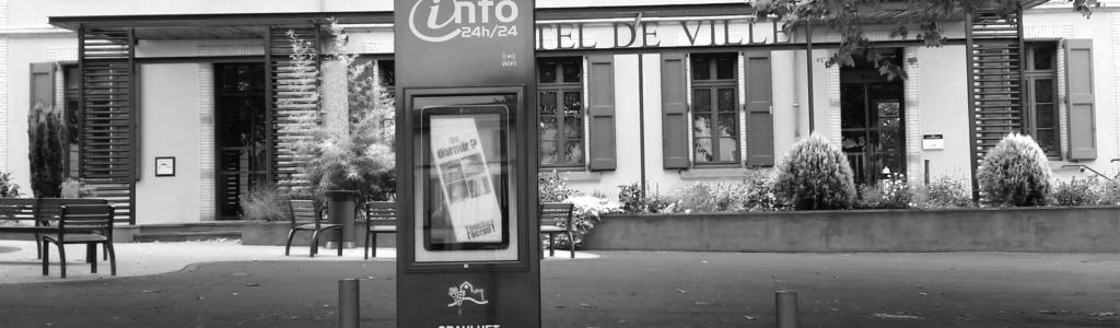 bornes d'information touristiques