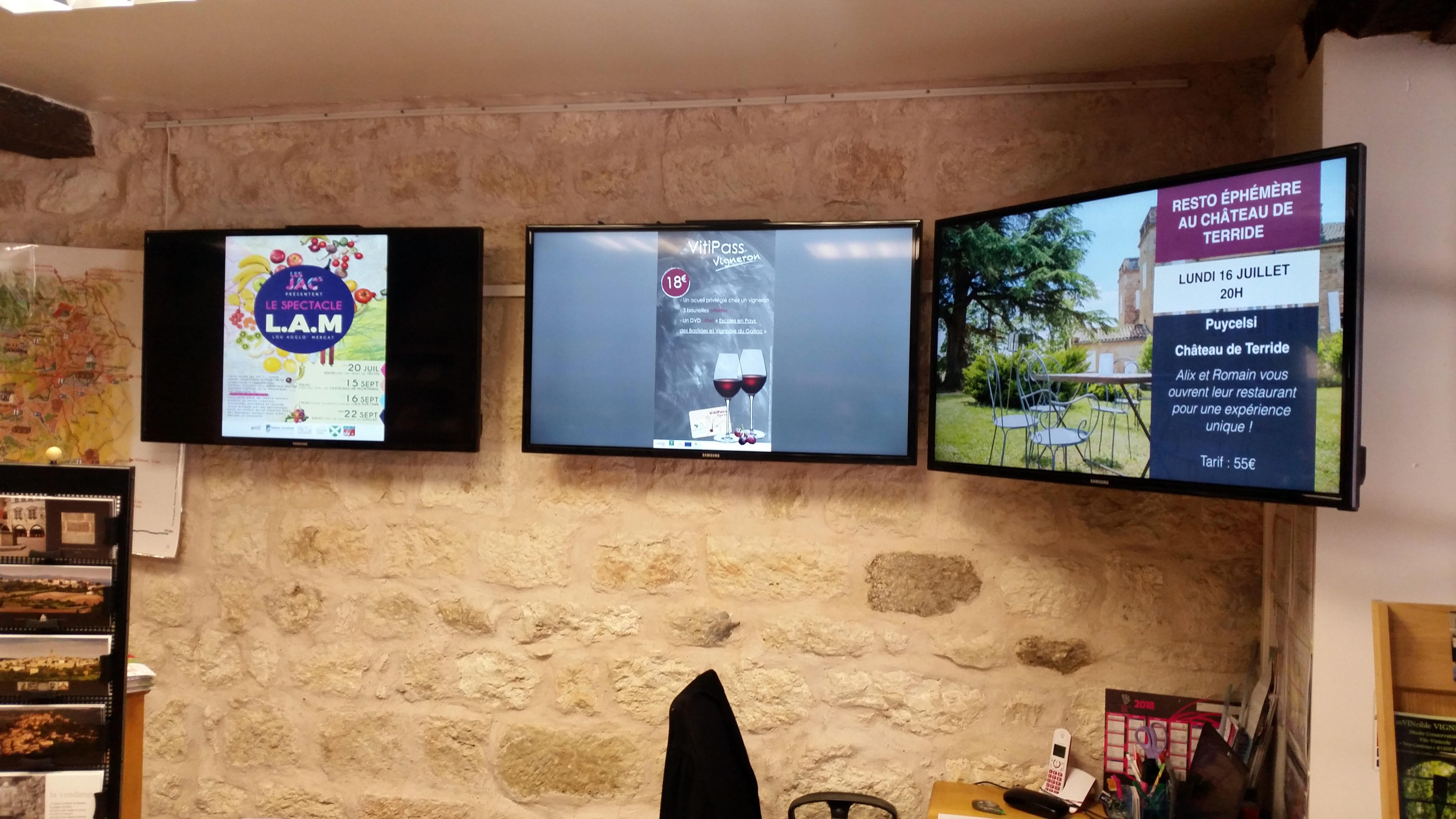 Mur d'écran