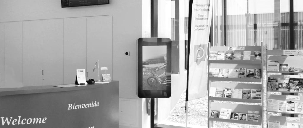 Bornes numériques accueil office de tourisme