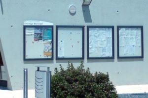 vitrine affichage verre