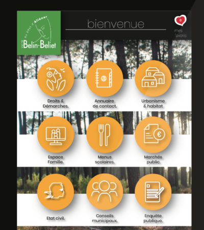 borne interactive mairie de belin béliet