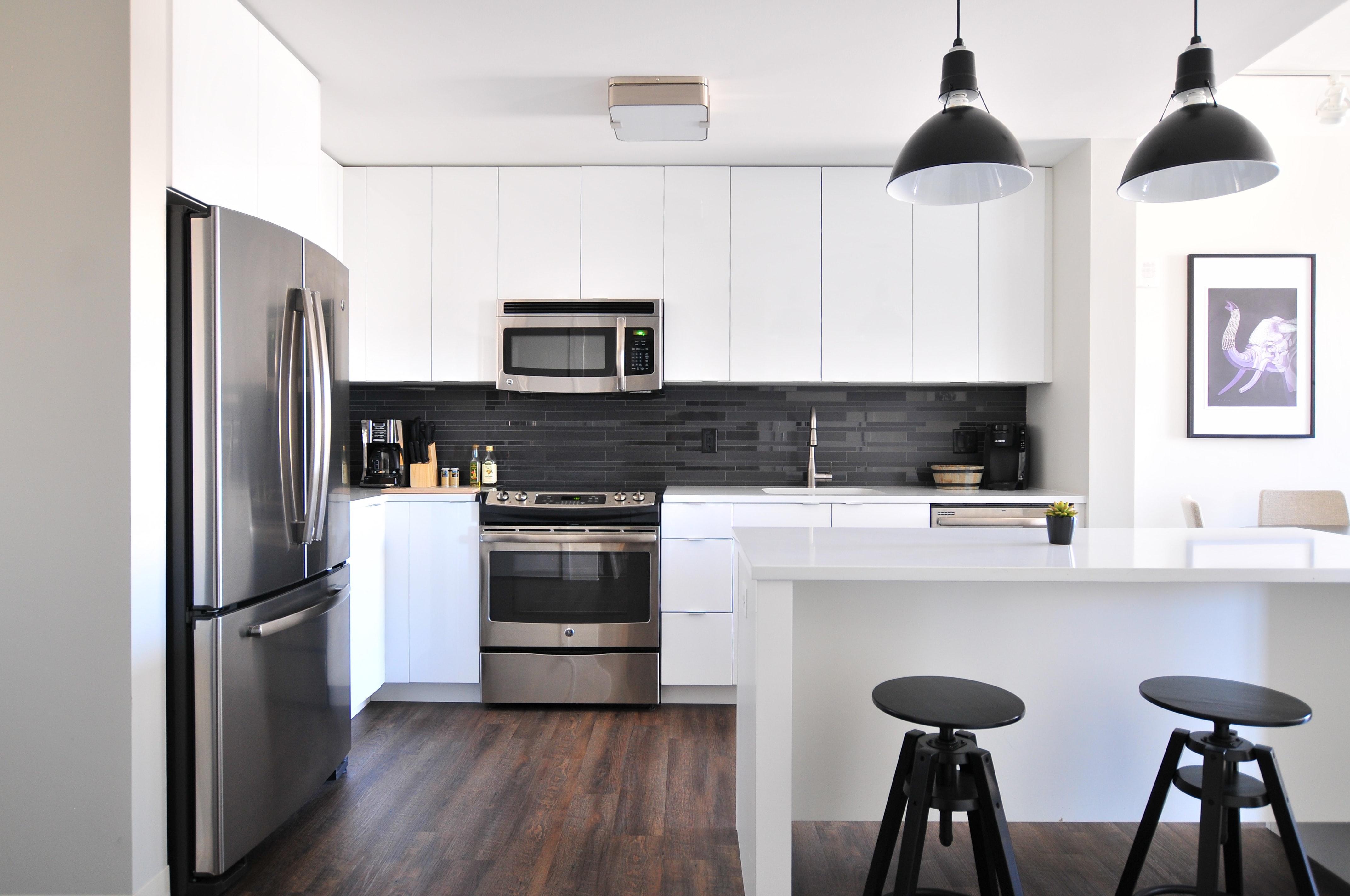 Intérieur maison cuisine moderne