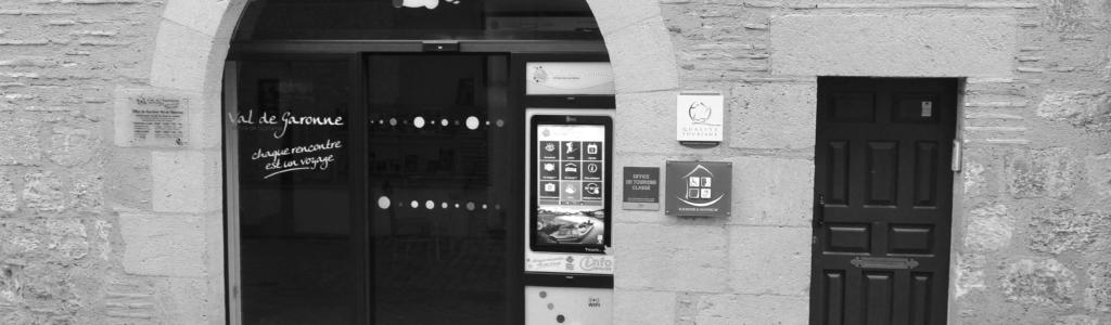 une borne avec une évolution application touristique à Marmande
