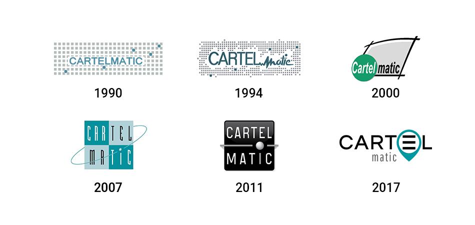évolution du logo cartelmatic