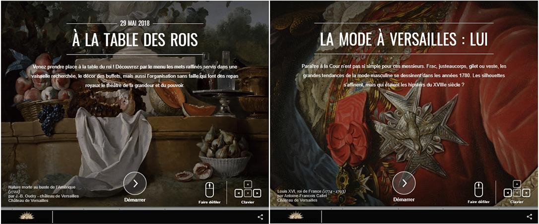 Versailles visite en virtuel exposition en ligne capture d'écran