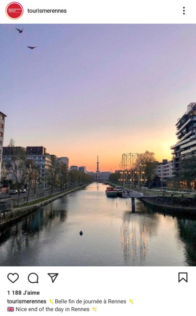 tourisme: l'Instagram de l'office de tourisme de Rennes